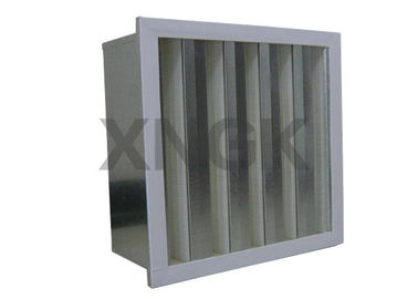HV Glass Filber V Cell Design Volume Tinggi HEPA Filter Metal Frame
