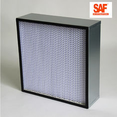 Deep Pleat Media Filter Efisiensi Tinggi, Galvanized Frame H14 Hepa Filter