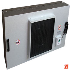 Painted Steel Industrial Fan Filter Unit Ukuran Luar 1220 * 610 * 390mm Umur Panjang