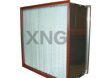 Cina Red Silicone Glue High Temperature Hepa Filter H14 Tidak Ada Kebocoran Udara pabrik