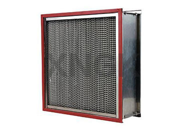 Cina Cartridge Suhu Tinggi Air Filter 24 * 24 * 12 Inch, Fiber Glass Hepa Knalpot Filter pabrik